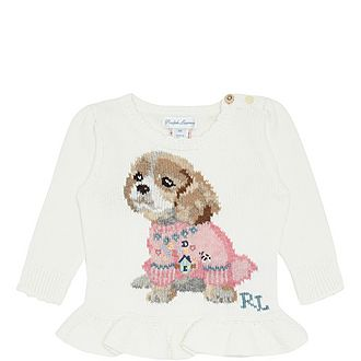 Doggy Peplum Sweater