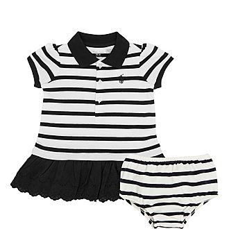 Two-Piece Polo Dress and Briefs Set