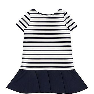 Striped Stretch Ponte Dress