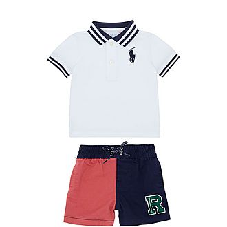 Two-Piece Polo and Shorts Set Baby