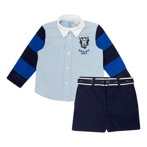 Two-Piece Shirt and Shorts Set, ${color}