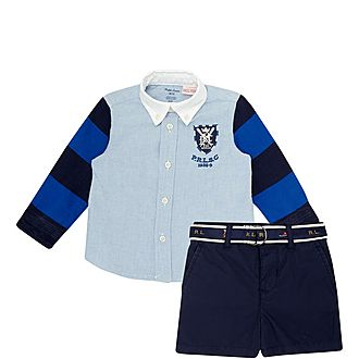 Two-Piece Shirt and Shorts Set