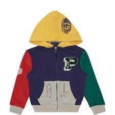Colour-Block Zip Hoodie