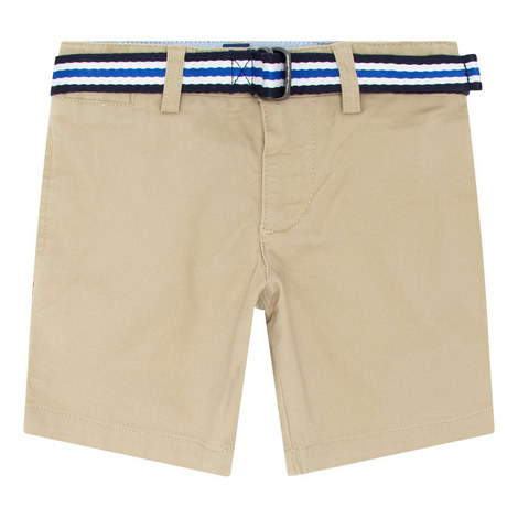 Belted Chino Shorts, ${color}