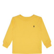 Long Sleeve Logo Embroidered T-Shirt