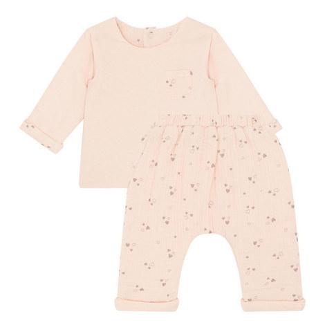 2 Pack 2-Piece Heart Print Pyjama Set Baby, ${color}
