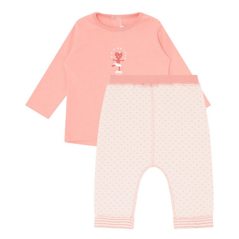 2-Piece Embroidered Cat Set Baby, ${color}