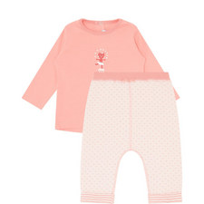 2-Piece Embroidered Cat Set Baby