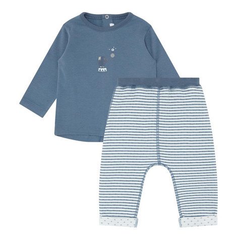 2-Piece Embroidered Elephant Set Baby, ${color}