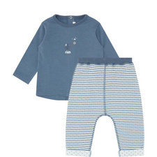2-Piece Embroidered Elephant Set Baby