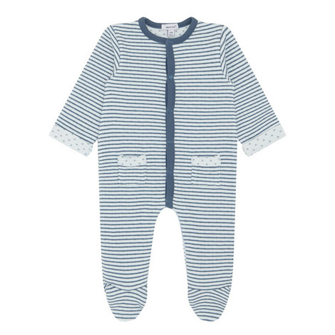 Textured Stripe Sleepsuit Baby, ${color}