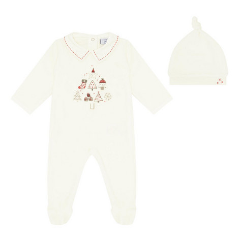 Christmas Sleepsuit and Hat Baby Set, ${color}