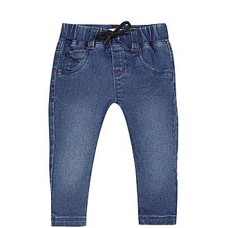 Knit Denim Trousers