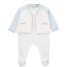 Nevan Rompersuit & Cardigan Set Baby