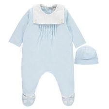 Nico Collared Rompersuit & Hat Set Baby