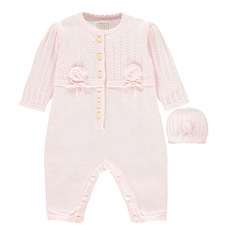 Nelma Knitted Rompersuit with Hat Baby