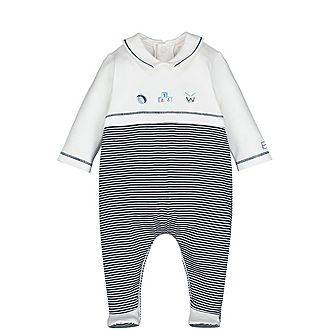 Toy Print Striped Rompersuit