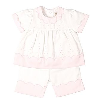 Paloma Scallop T-Shirt Set Baby