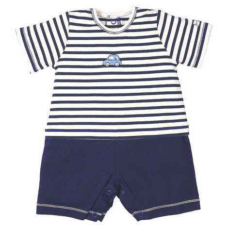 Paden Short Stripe Romper Baby, ${color}