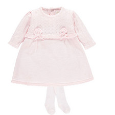 Nuala Knitted Dress & Tights Set Baby