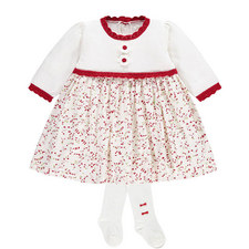 Naomi Printed Dress & Tights Set Baby