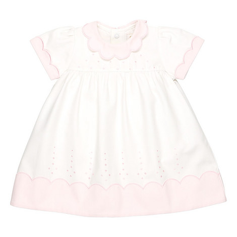 Peony Scallop Dress Baby, ${color}