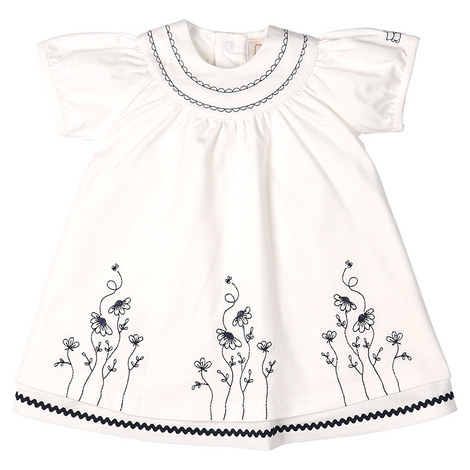 Posy Embroidered Flower Dress Baby, ${color}