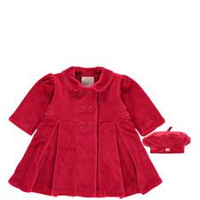 Nancy Velour Coat & Hat Set Baby