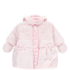 Nicola Quilted Bow Coat Baby