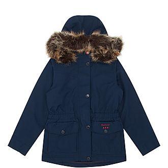 Girls Abalone Parka Jacket