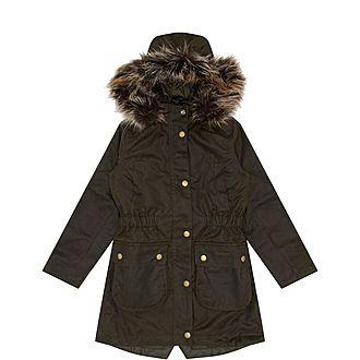 Girls Thrunton Waxed Jacket