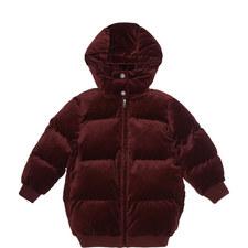 Ruby Velvet Puffa Jacket