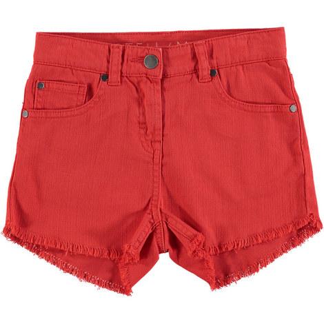 Frayed Hem Shorts, ${color}