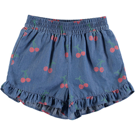 Cherry Chambray Shorts, ${color}