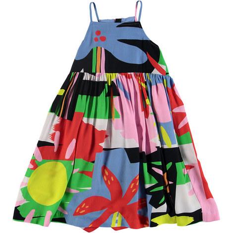 Palms Print Dress, ${color}