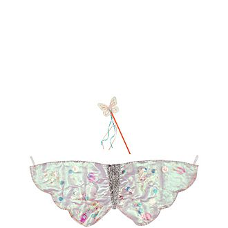 Sequin Butterfly Wings & Wand