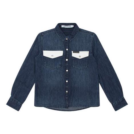 Denim Western Shirt, ${color}