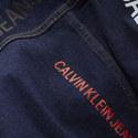 Logo Print Denim Jacket, ${color}