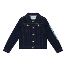 Logo Print Denim Jacket
