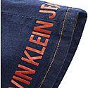 Logo Print Denim Mini Skirt, ${color}