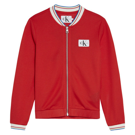 Mesh Sport Bomber Jacket, ${color}