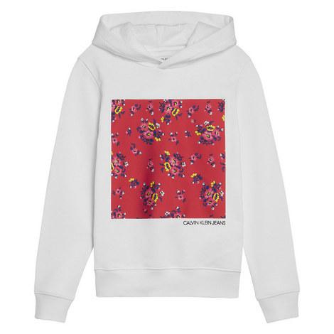 Flower Print Hoodie, ${color}
