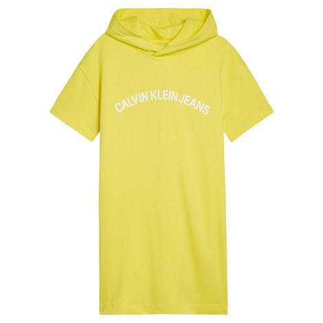 Hooded Logo Dress, ${color}