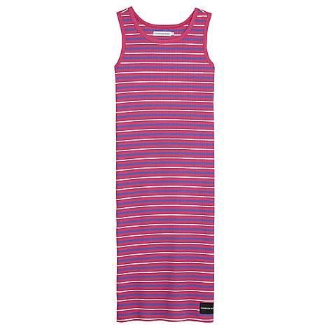 Ribbed Stripe Tank Dress, ${color}