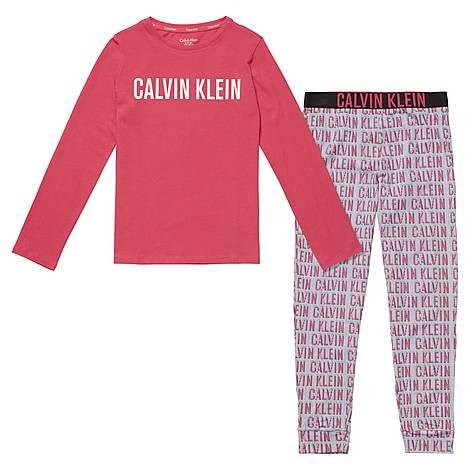 Long-Sleeved Knit Pyjama Set, ${color}