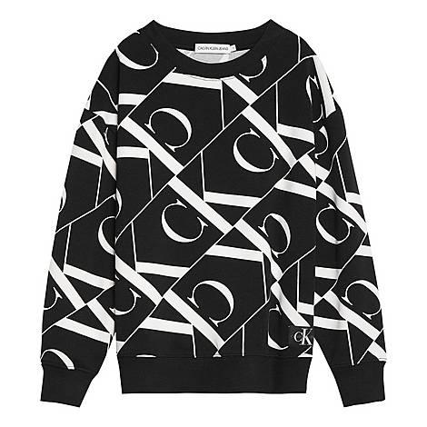 Mirror Monogram Sweatshirt, ${color}