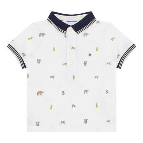 Animal Print Polo Shirt, ${color}