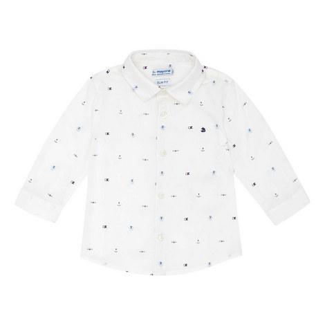 Anchor Print Cotton Shirt, ${color}