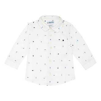 Anchor Print Cotton Shirt