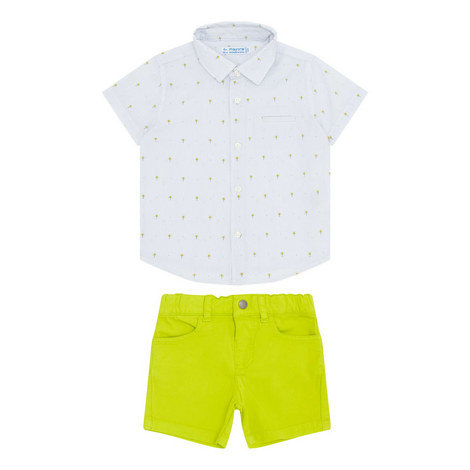 Two Piece Short Sleeve Shirt and Shorts Set, ${color}